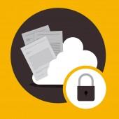Progettazione di servizi cloud — Vettoriale Stock