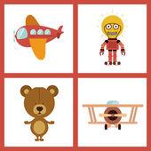 Speelgoed ontwerp — Stockvector