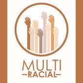 Multiracial design  — Stockvektor
