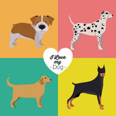 Pets Love design — Stock Vector
