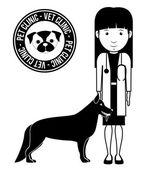 Pets Love design — Stock vektor