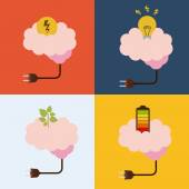 Мозговой дизайн — Cтоковый вектор