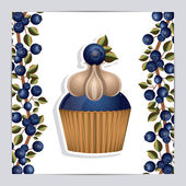 Blueberry design — Stock Vector