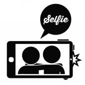 Selfie design — Stock Vector