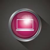 Icon Button design  — Stock Vector
