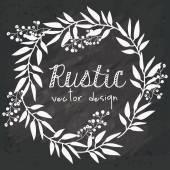 Design rustique — Vecteur