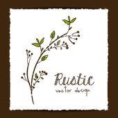 Rustic design — Stock Vector
