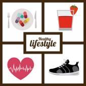 Zdravého životního stylu design — Stock vektor