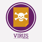 Virus and security system design  — Stockvector