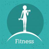 Fitness-design — Stockvektor