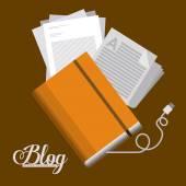 Blogger design  — Wektor stockowy