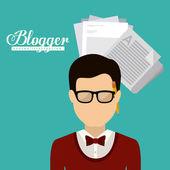 Blogger design — Stock Vector