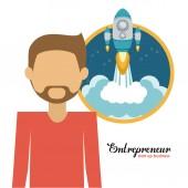 Entrepreneur design  — Stock Vector