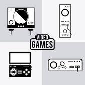 Video games design — Stock Vector