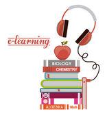 E-öğrenme tasarım — Stok Vektör
