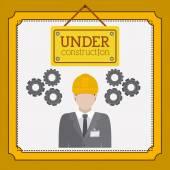 En vertu de la conception de la construction — Vecteur