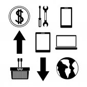 Technology icon design — Vettoriale Stock