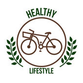 Bicycle lifestyle design — Stock Vector