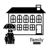 家族の設計 — ストックベクタ