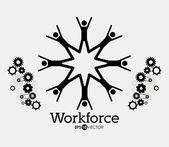 Workforce design — Stock Vector