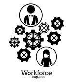 Workforce design — Stok Vektör