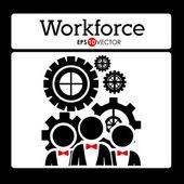 Workforce design — Stockvector