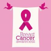 Projeto de câncer de mama — Vetor de Stock