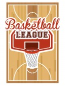 Projeto de basquete — Vetor de Stock