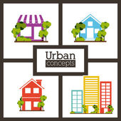 Immobiliare progettazione — Vettoriale Stock