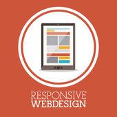 Progettazione web reattiva — Vettoriale Stock