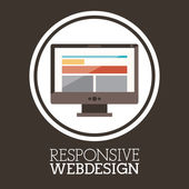 Yanıt veren web tasarım — Stok Vektör