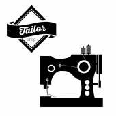 Tailor shop design — Stock vektor