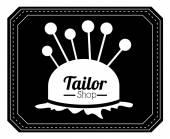 Tailor shop design — Stock Vector