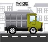 Vervoer ontwerp — Stockvector