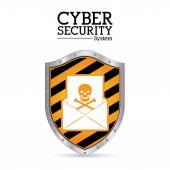 Cyber security digital design — Stock Vector