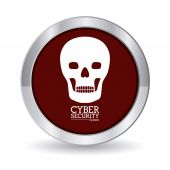 Siber Güvenlik dijital tasarım — Stok Vektör
