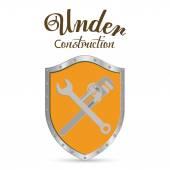 Under construction digital design — Stock Vector