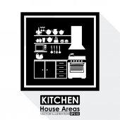Diseño de áreas de la casa — Vector de stock