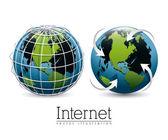 Internet  icon design — Stock Vector
