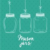 Mason jar design — Stockvektor