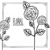 Disegno floreale — Vettoriale Stock