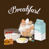 Progettazione di colazione — Vettoriale Stock