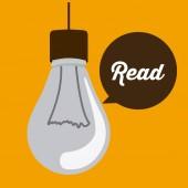 Read design — Stock Vector