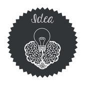 Brain design — Stock Vector