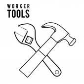 Worker tools design — Stock Vector