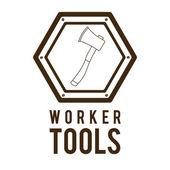 Arbeiter Wcm — Stockvektor