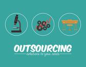Outsourcing design — Stock Vector