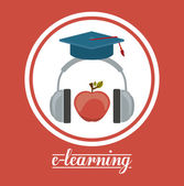 E-learning design — Stock Vector