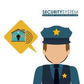 Projekt systemu bezpieczeństwa — Wektor stockowy