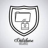 Data Base design — Stock Vector